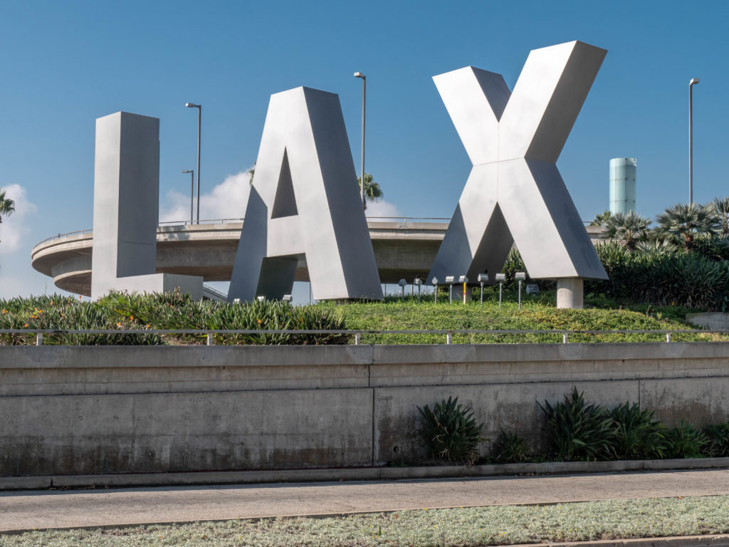 LAX sign - Air Travel Is Down
